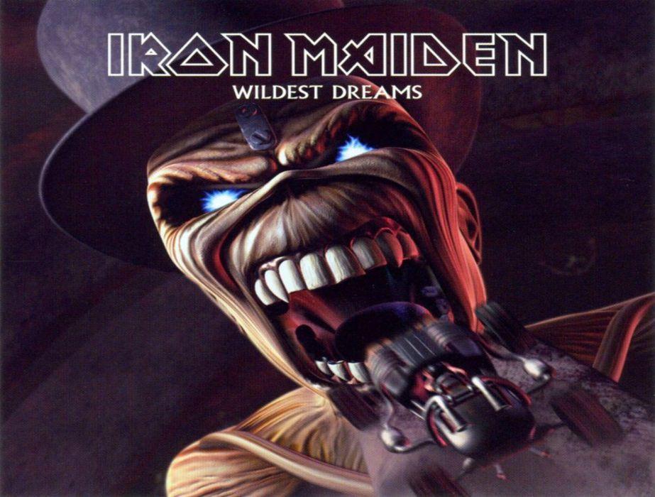 IRON MAIDEN heavy metal dark album cover eddie    fw wallpaper