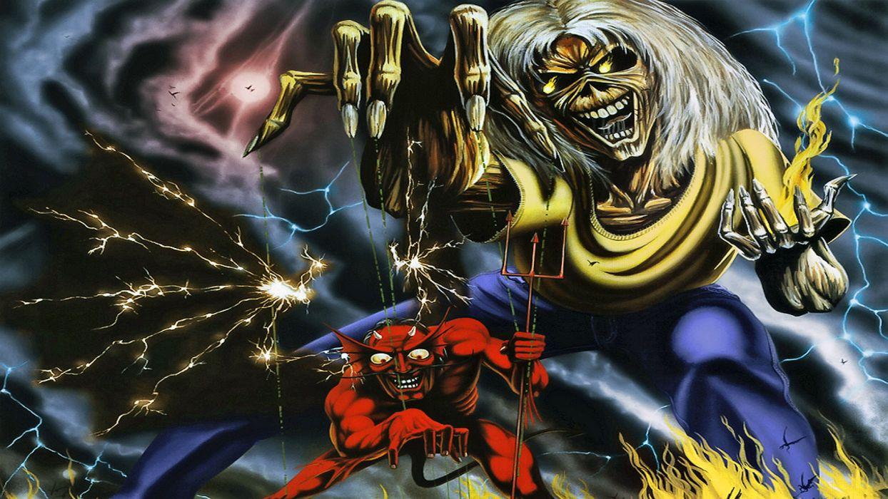 Iron Maiden Heavy Metal Dark Album Cover Eddie Fs Wallpaper