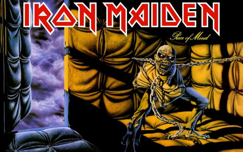 IRON MAIDEN heavy metal dark album cover eddie g wallpaper