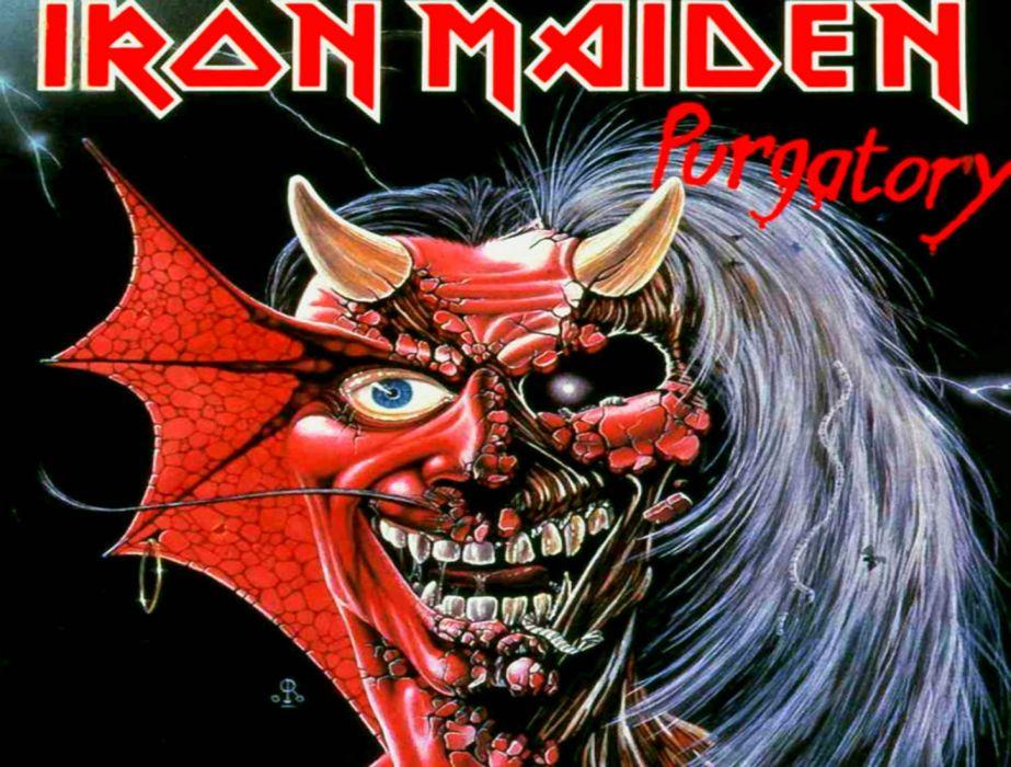 IRON MAIDEN heavy metal dark album cover eddie  d wallpaper