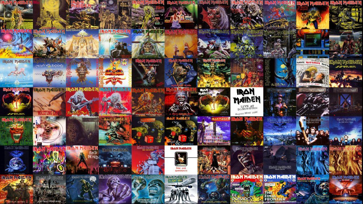 Iron Maiden Heavy Metal Dark Album Cover Eddie F Wallpaper