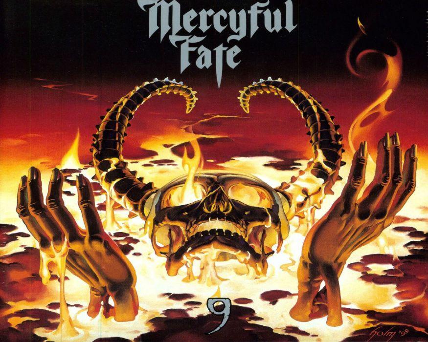 MERCYFUL FATE KING DIAMOND heavy metal dark album cover skull skulls  f wallpaper