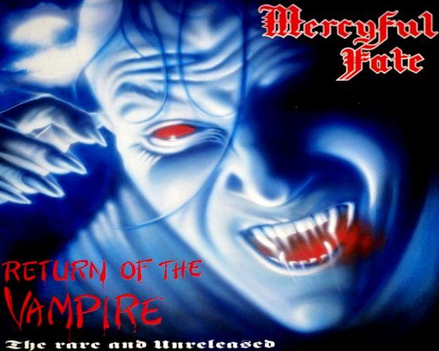 MERCYFUL FATE KING DIAMOND heavy metal dark album cover vampire wallpaper