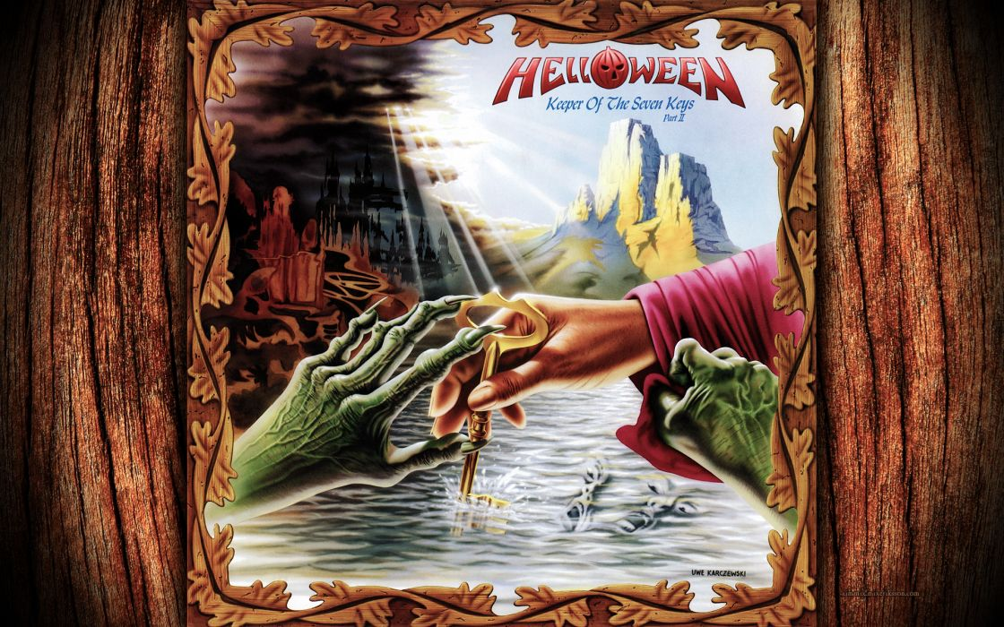 HELLOWEEN heavy metal album cover dark fantasy       zp wallpaper