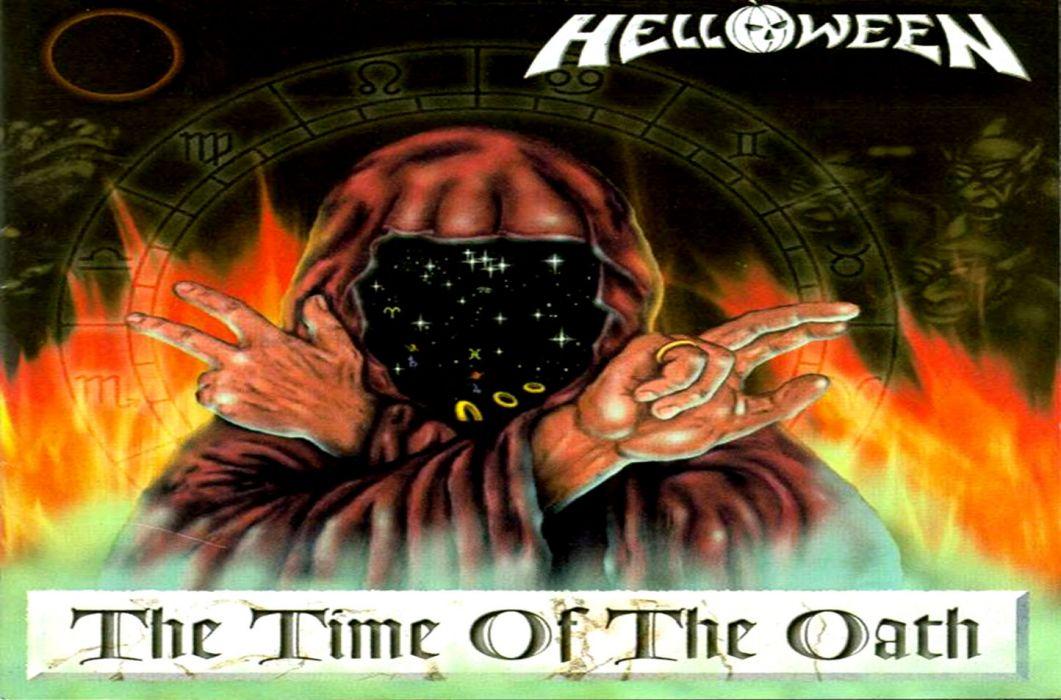 HELLOWEEN heavy metal album cover dark wallpaper