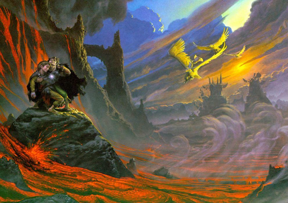 BLIND GUARDIAN heavy metal album cover dark fantasy lord rings lotr     f wallpaper