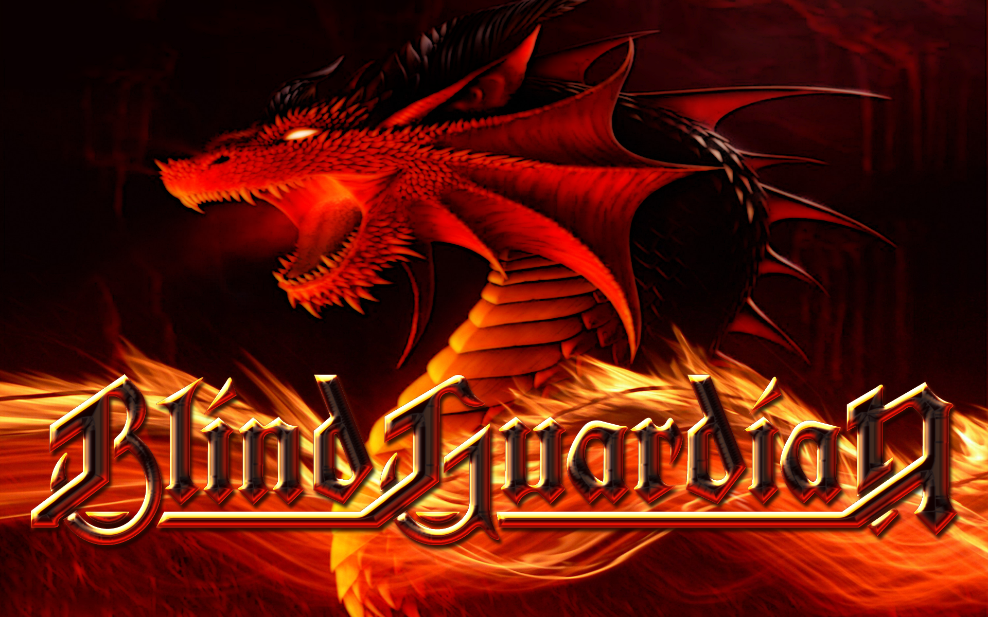 BLIND GUARDIAN Heavy Metal Album Cover Fantasy Dragon