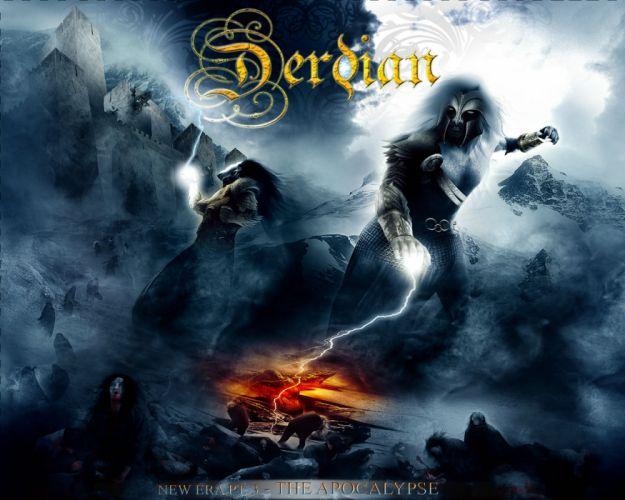 DERDIAN POWER HEAVY METAL ALBUM COVER FANTASY WARRIOR wallpaper