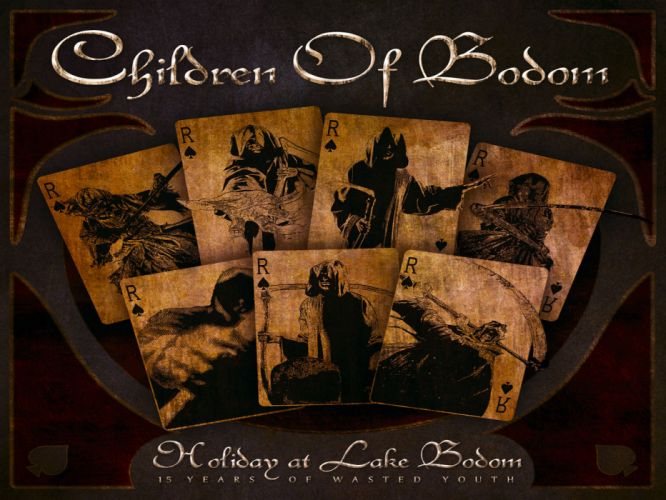 CHILDREN OF BODOM heavy metal album art cover dark f wallpaper