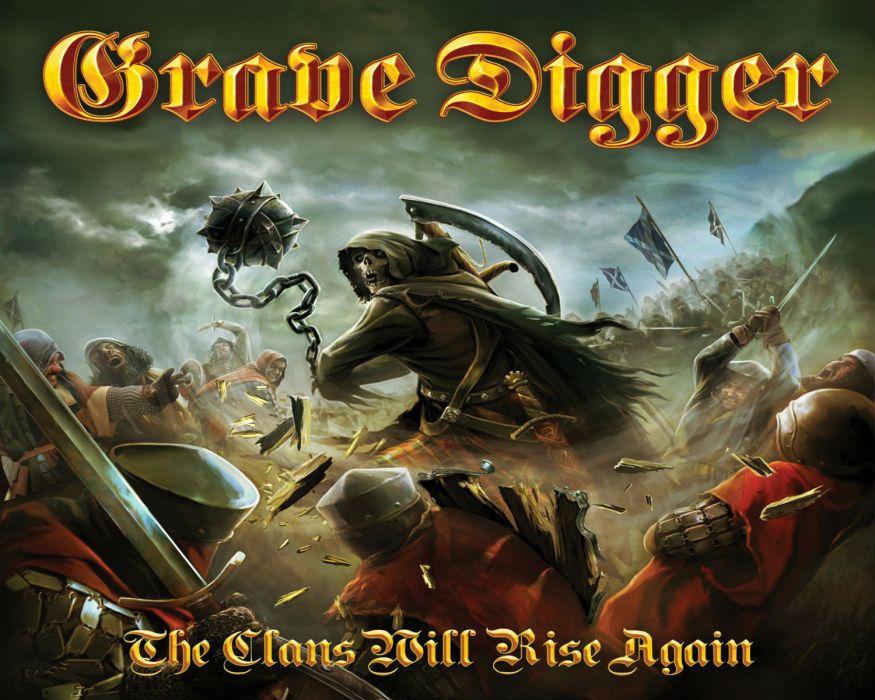 GRAVE DIGGER heavy metal album art cover fantasy    f wallpaper