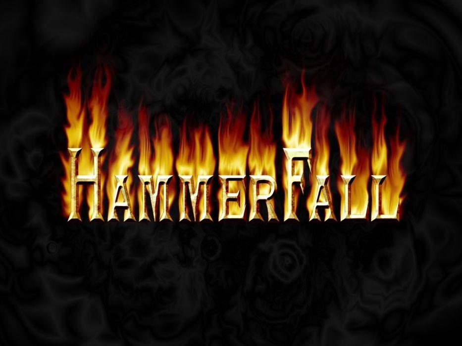 HAMMERFALL heavt metal logo wallpaper