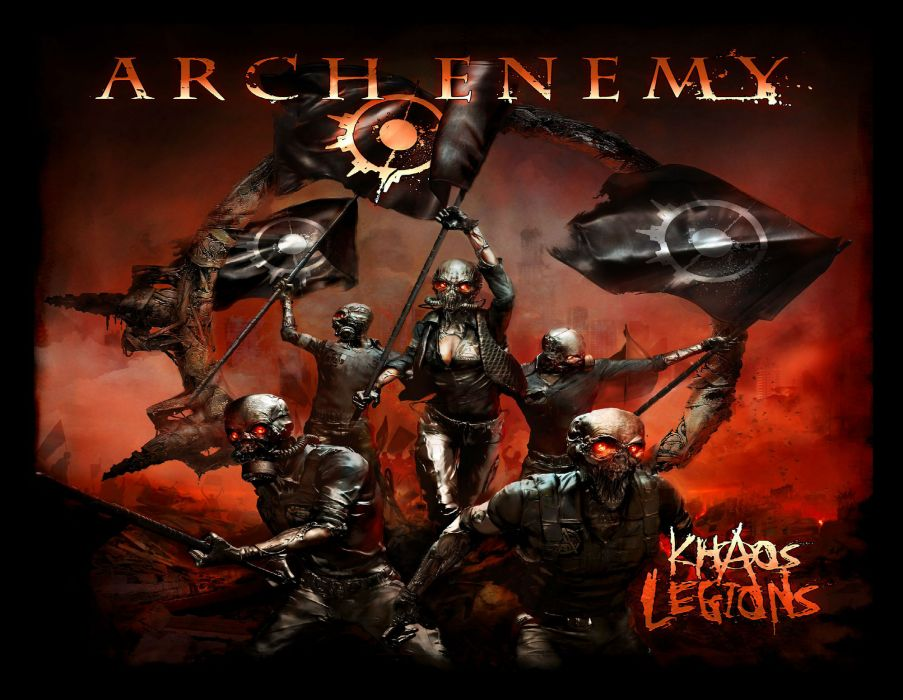 ARCH ENEMY technical power death metal heavy album art cover dark    gw wallpaper