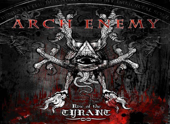 ARCH ENEMY technical power death metal heavy album art cover dark wallpaper