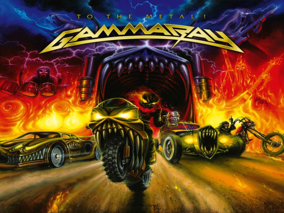 GAMMA RAY power metal heavy album art cover dark   y wallpaper