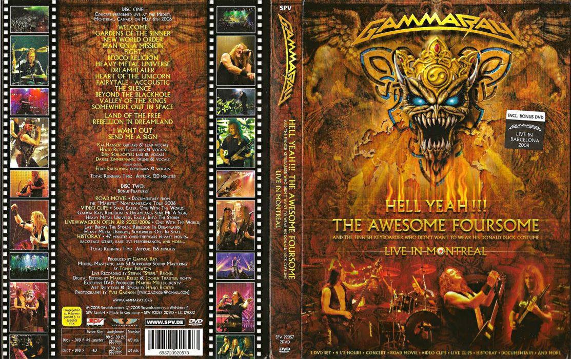 GAMMA RAY power metal heavy album art cover wallpaper