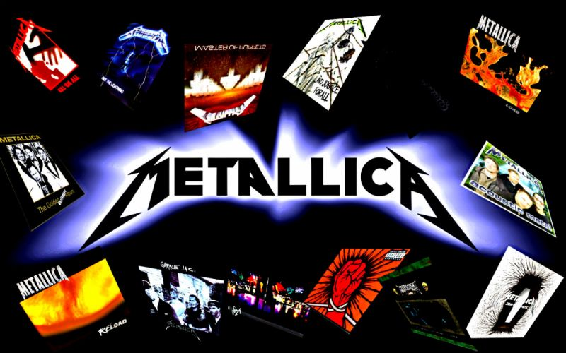 METALLICA thrash metal heavy album cover art he wallpaper