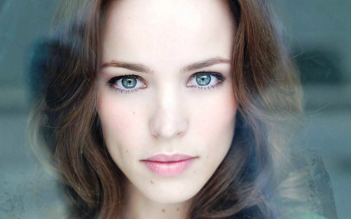 Girl Woman Beautyful Face Blue Eyes Rachel McAdams wallpaper