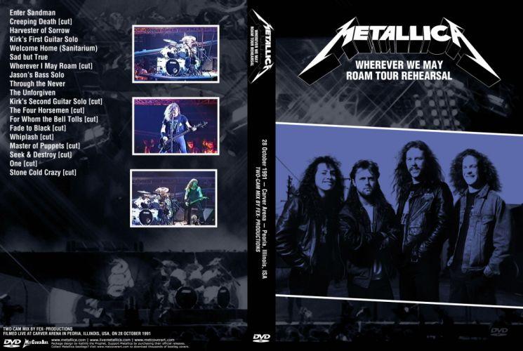 METALLICA thrash metal heavy album cover art concert concerts poster posters fu wallpaper