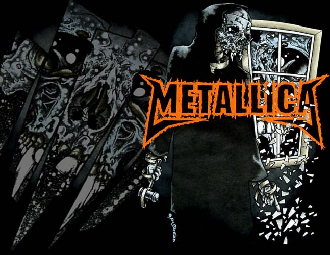 METALLICA thrash metal heavy album cover art dark e wallpaper