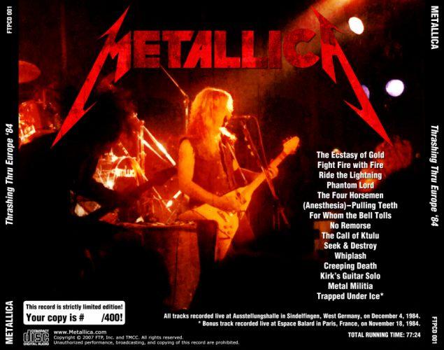 METALLICA thrash metal heavy album cover art poster posters el wallpaper