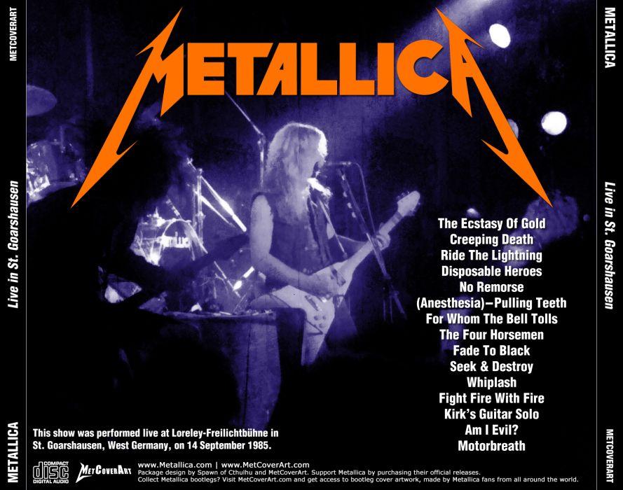 METALLICA thrash metal heavy album cover art poster posters concert concerts guitar guitars       rr wallpaper