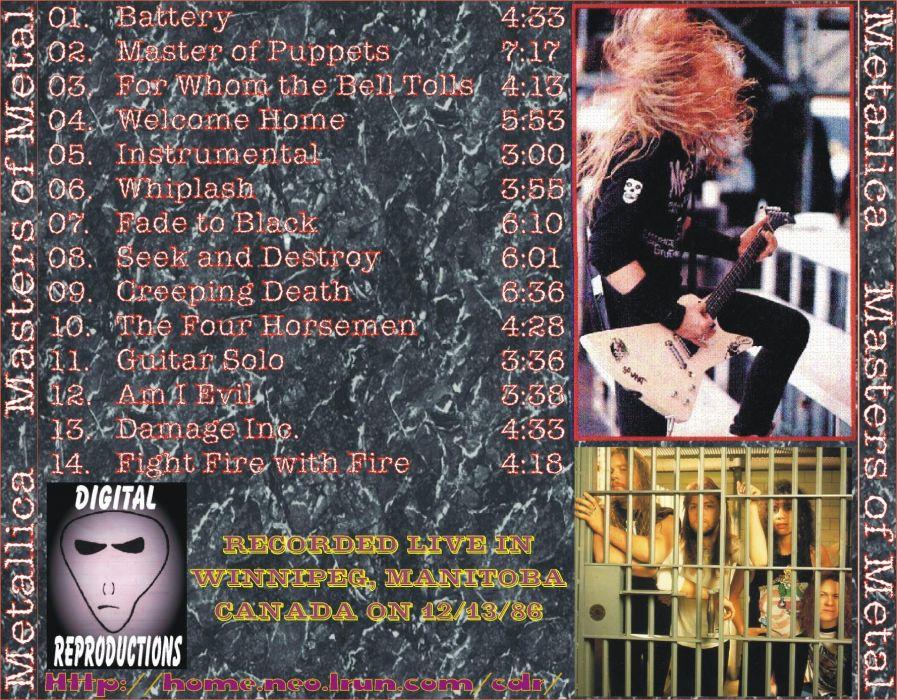 METALLICA thrash metal heavy album cover art poster posters concert concerts guitar guitars     ha wallpaper