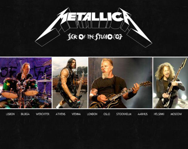 METALLICA thrash metal heavy album cover art concert concerts guitar guitars drums gi wallpaper