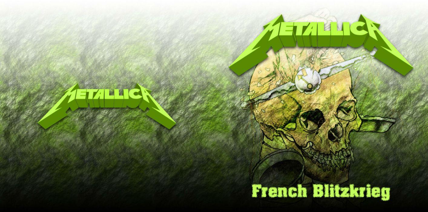 METALLICA thrash metal heavy album cover art dark skull skulls     f wallpaper