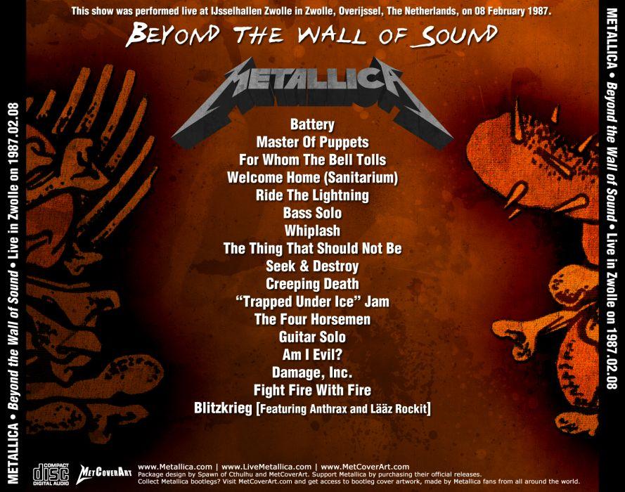 METALLICA thrash metal heavy album cover art poster posters ge