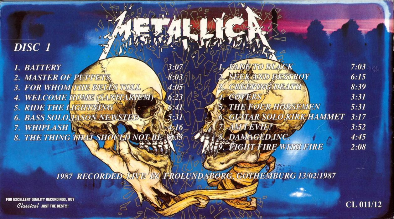 METALLICA thrash metal heavy album cover art poster posters dark skull skulls vz wallpaper