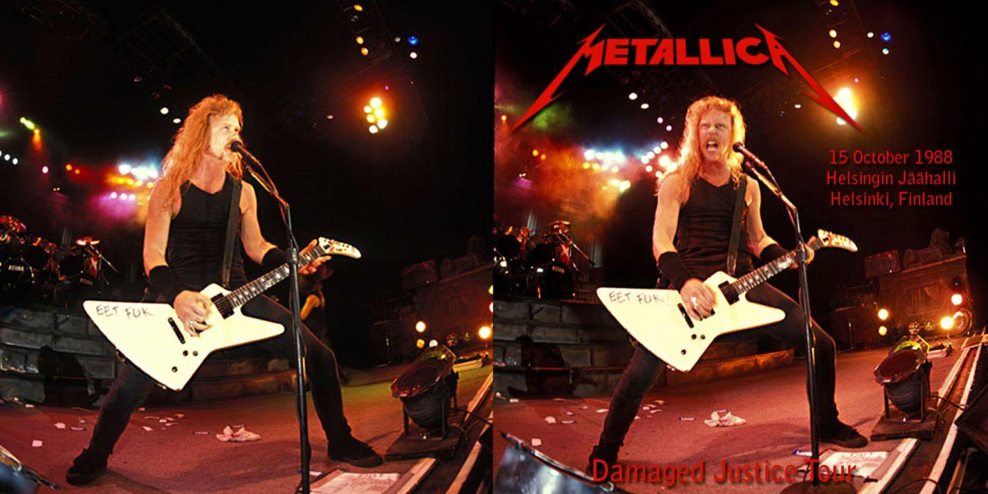 METALLICA thrash metal heavy album cover art poster posters concert concerts microphone guitar guitars fs wallpaper