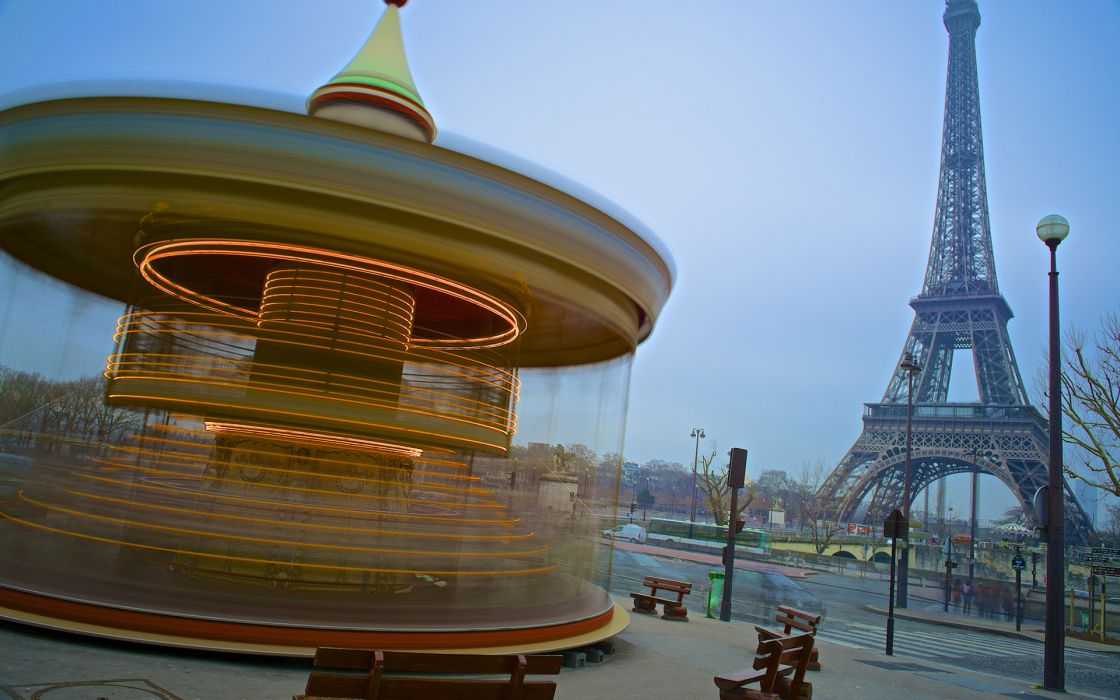 Eiffel Tower Paris Tower Carousel wallpaper