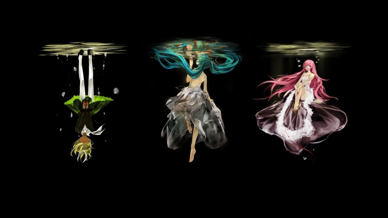 hatsune miku water megurine luka girl kagamine rin Vocaloid wallpaper