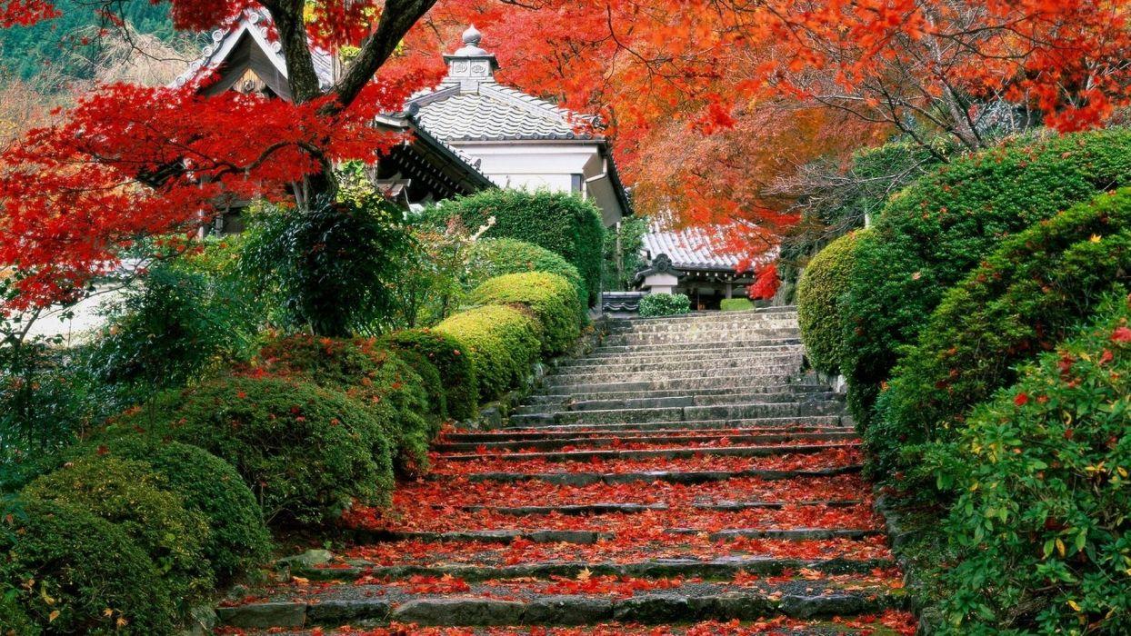 japan garden kyoto autumn fall wallpaper 1920x1080 120989