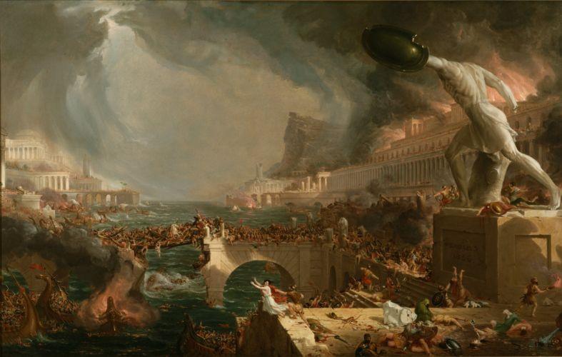 Painting Roman battle fantasy war apocalyptic wallpaper
