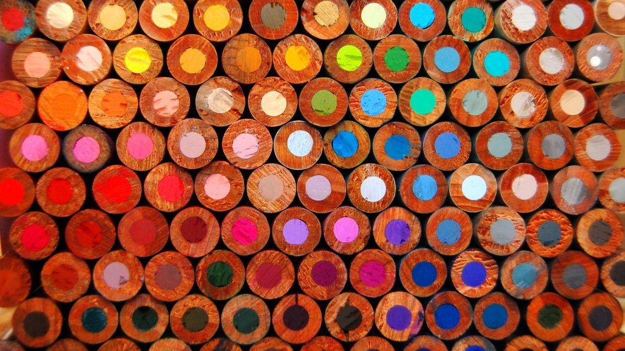 Pencils Wood color pattern bokeh wallpaper