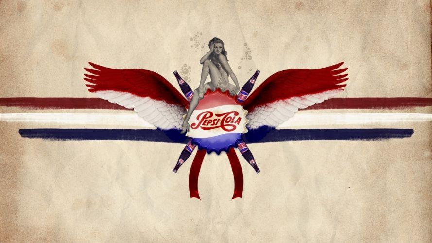 Pepsi Pin-Up Wings Retro wallpaper