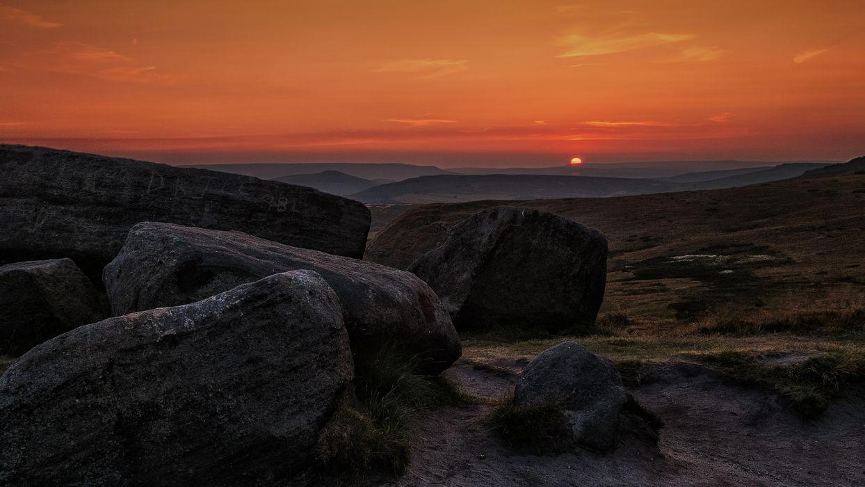 Rocks Stones Sunset wallpaper