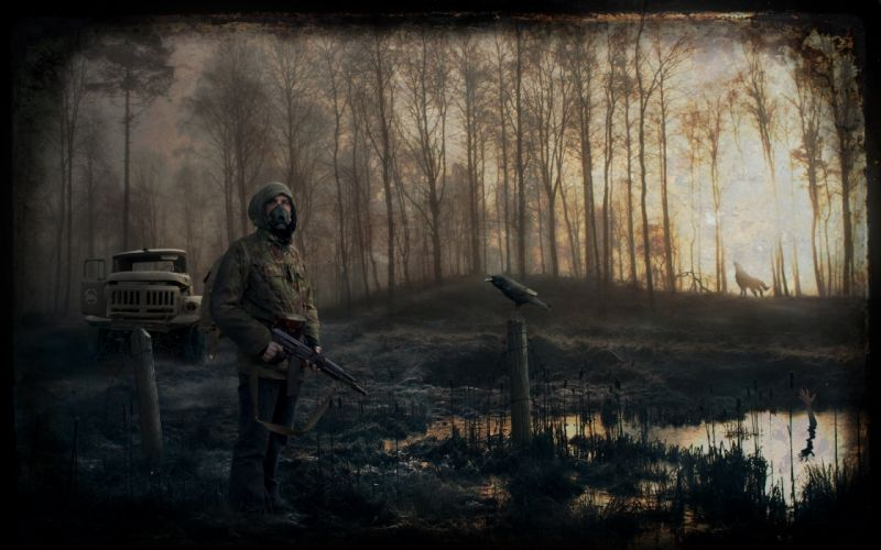 stalker post apocalyptic dark military anarchy wallpaper
