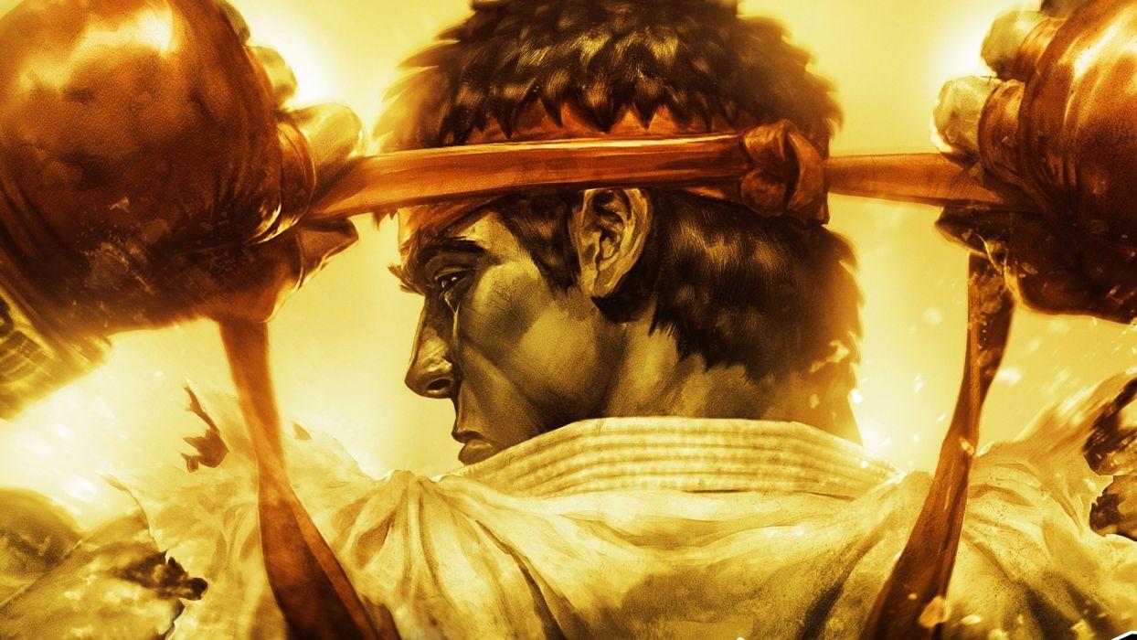 Street Fighter Ryu Drawing Capcom warrior wallpaper