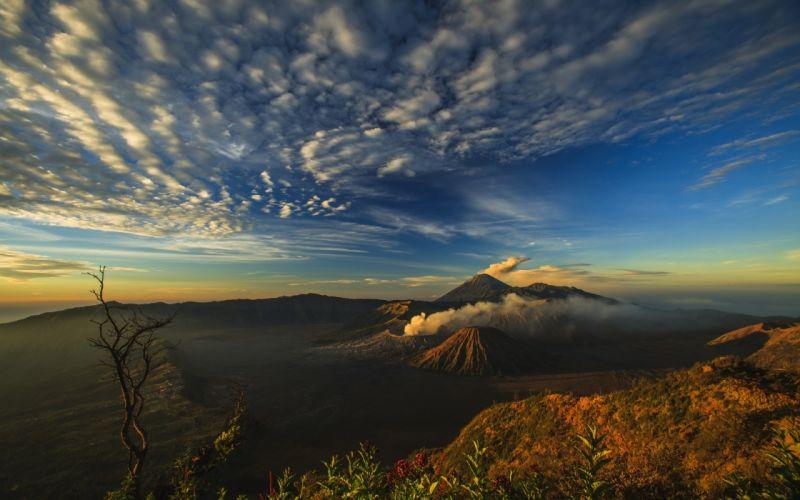 Volcano Smoke Landscape Mt Merapi wallpaper