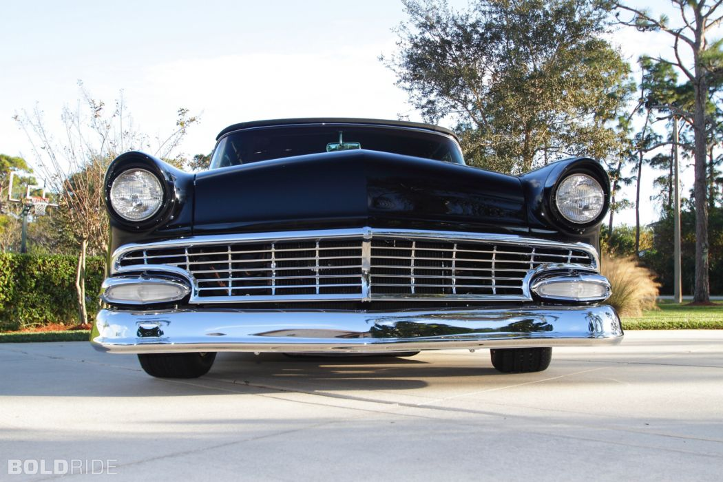 1955 Ford Sunliner Convertible Resto Mod retro hot rod rods    g wallpaper