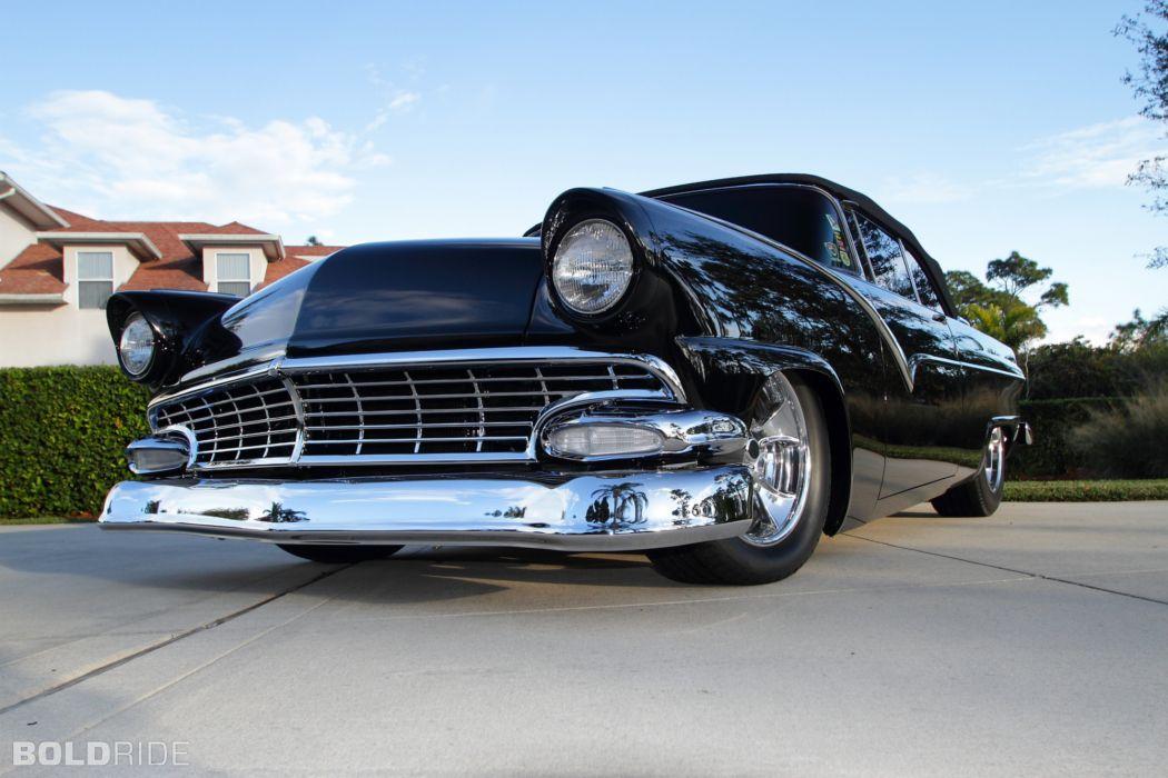 1955 Ford Sunliner Convertible Resto Mod retro hot rod rods wallpaper