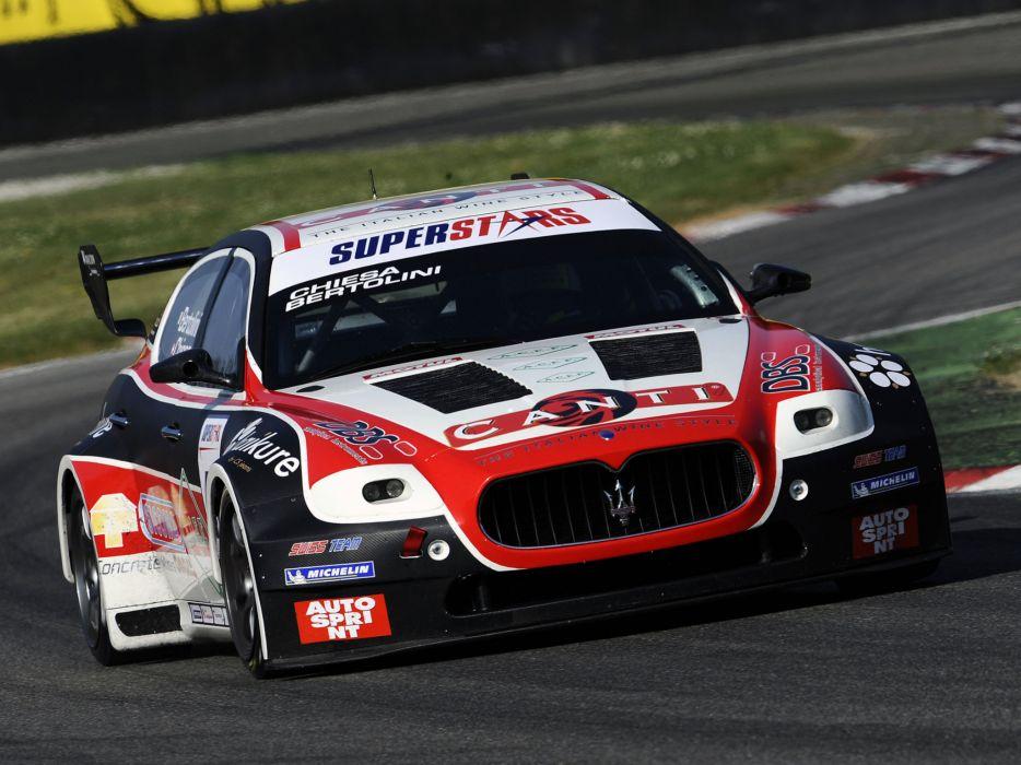 2009 Maserati Quattroporte SuperStars race racing supercar supercars wallpaper