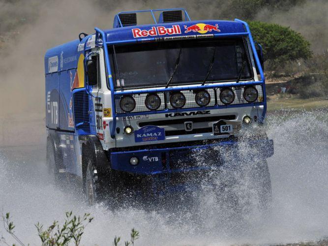 2010 Kamaz 4326-9 V-K dakar offroad 4x4 race racing truck drops wallpaper