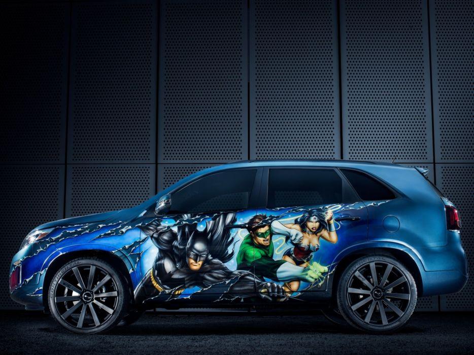 2014 Kia Sorento Justice League Concept superhero tuning superman suv   g wallpaper