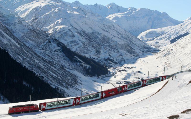 Train Snow Mountain wallpaper