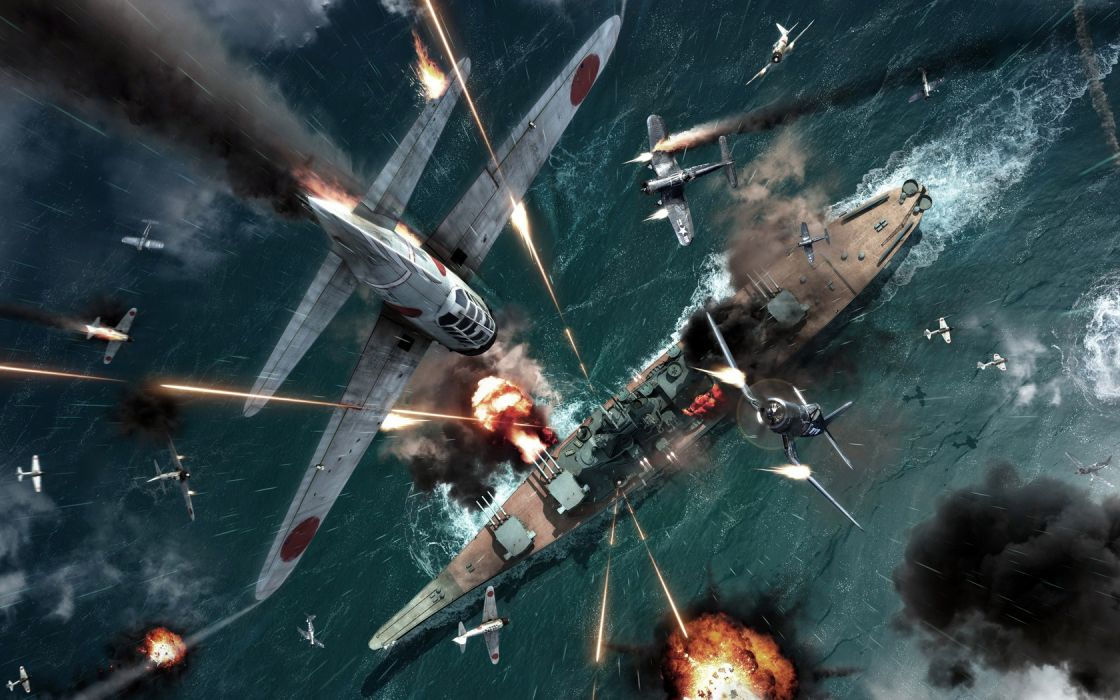 Ship Planes Battle Japan wallpaper