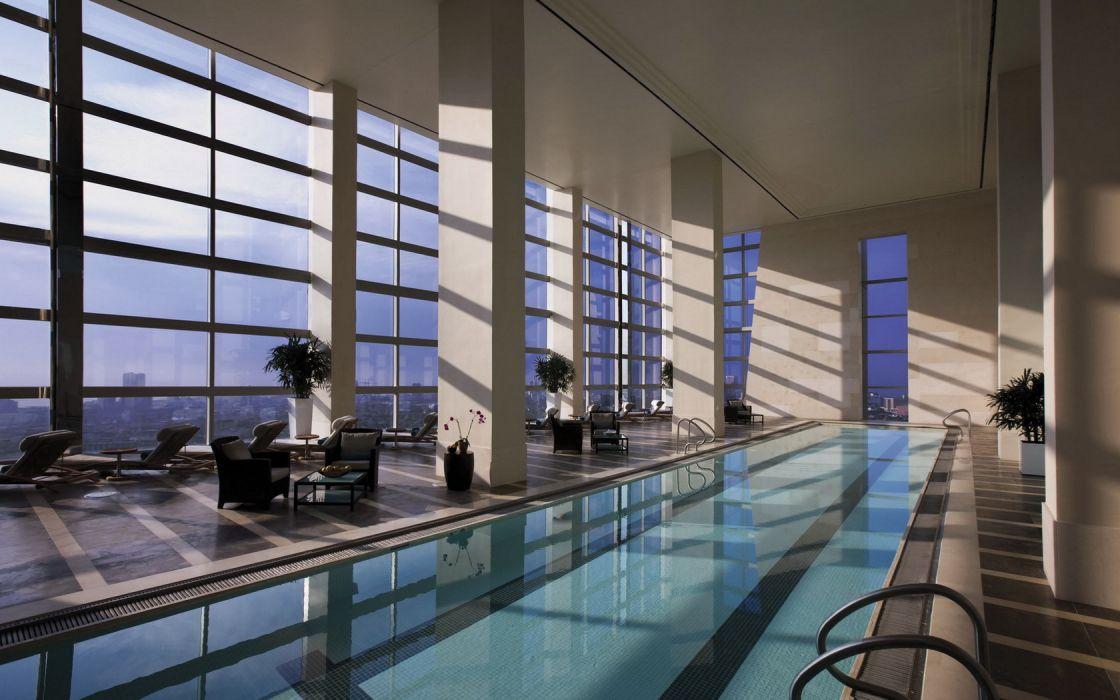Architecture Interior Swiming Pool wallpaper