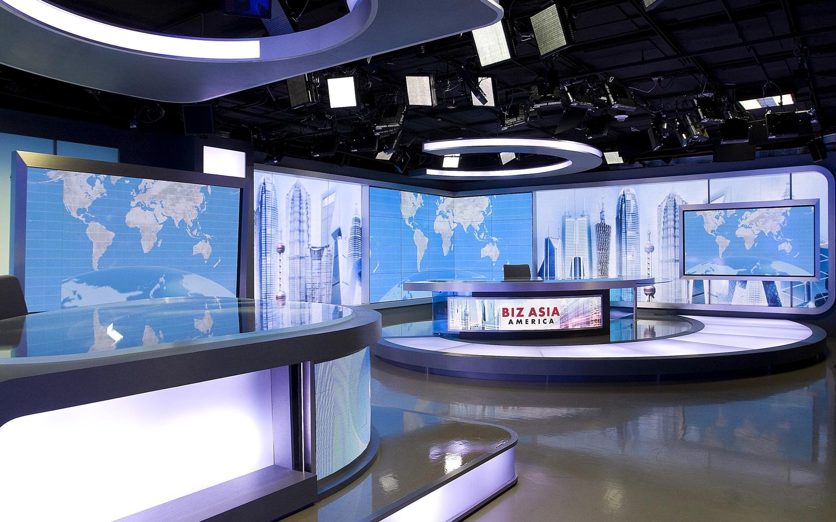 Architecture Interior Tv Studio Wallpaper 1680x1050